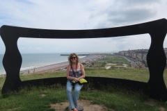 Bernadette overlooking Dieppe
