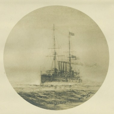 H.M.S. Euryalus, flying Flag of Admiral of the Fleet