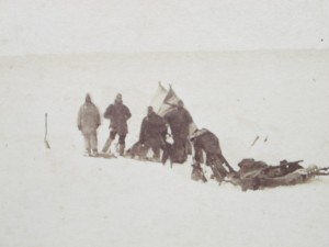 Encampment of Dog Sledge in command of Lieut May on a large Old Floe