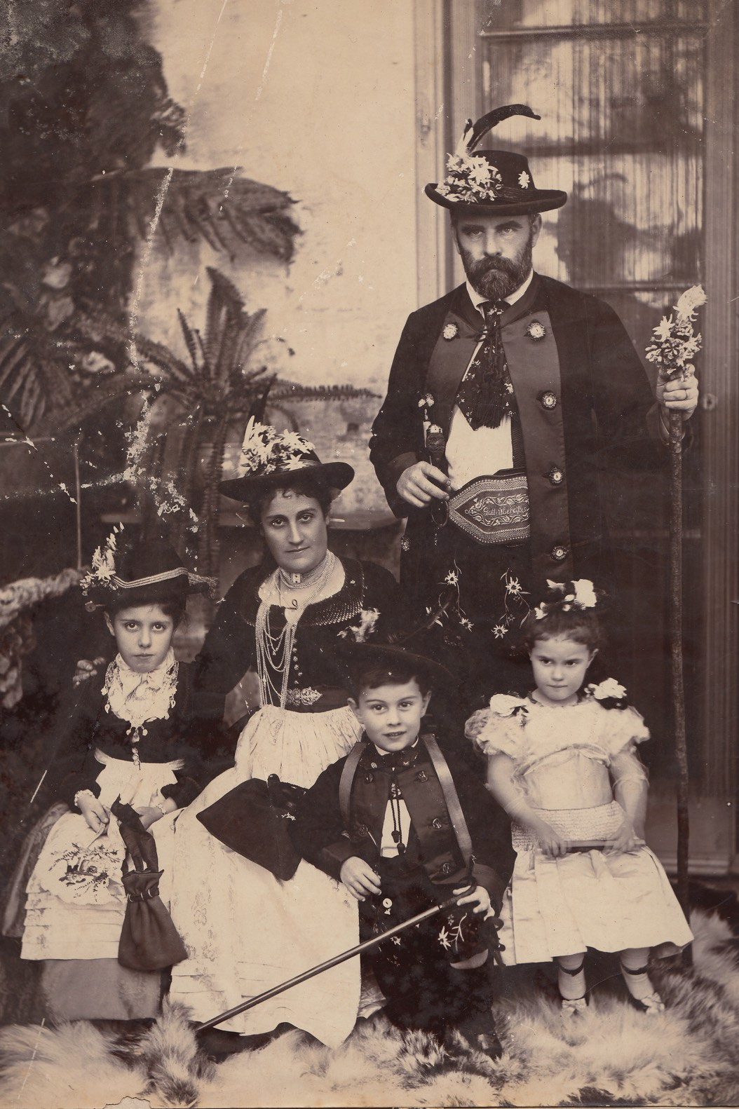 Price Family in Tyroese Costumes