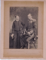 Archibald Seaburne May with Sir William Henry May